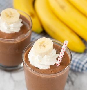 Recette du smoothie banane-choco